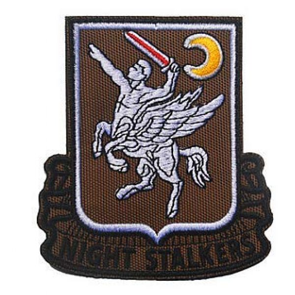 Embroidery Patch Airsoft Morale Patch 1 160th SOAR Night Stalkers Airborne Regiment Operation Military Hook Loop Tactics Morale Embroidered Patch (color2)