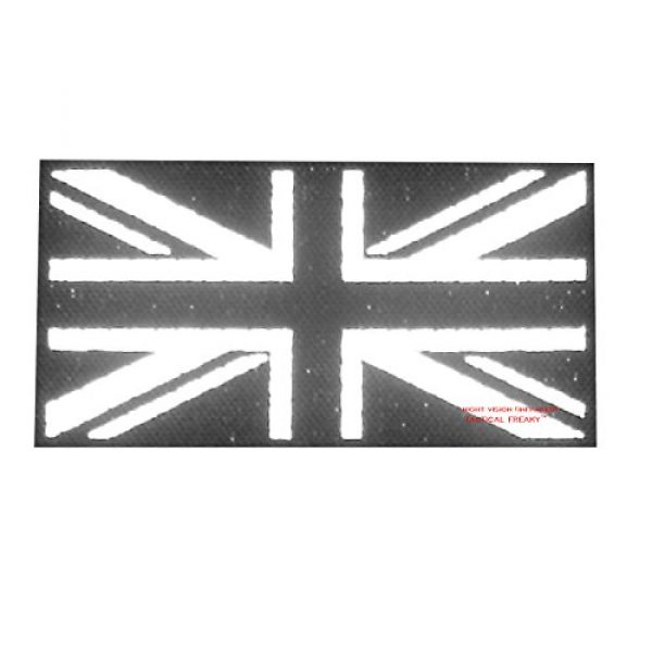 Tactical Freaky Airsoft Morale Patch 2 Big 3x5 Multicam Infrared IR UK Union Jack Flag IFF Tactical Morale Fastener Patch