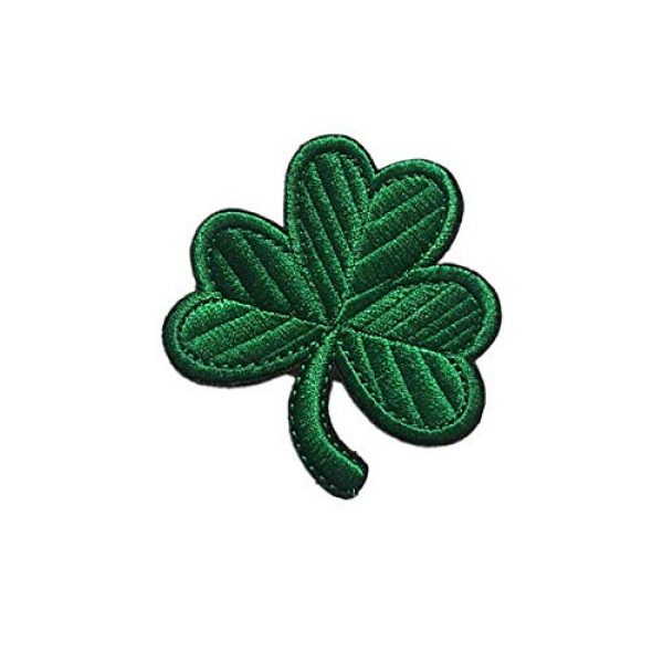 Embroidery Patch Airsoft Morale Patch 3 Irish Clover Leaf Military Hook Loop Tactics Morale Embroidered Patch