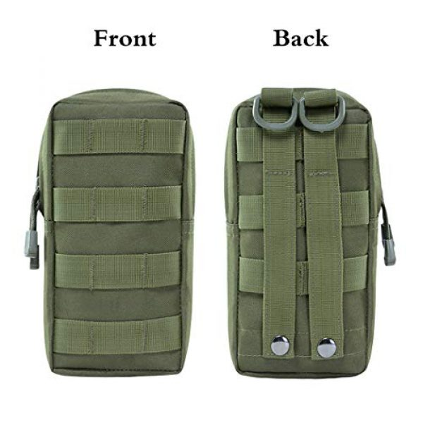 Aoutacc Tactical Pouch 2 2 Pack Tactical Modular Molle Pouches, Compact Small Utility Pouch EDC Waist Bag Pouch