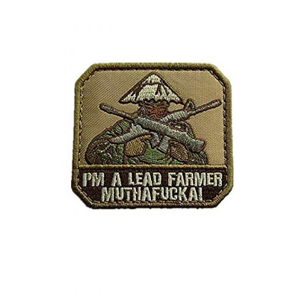 Embroidery Patch Airsoft Morale Patch 1 I'm A Lead Farmer Military Hook Loop Tactics Morale Embroidered Patch