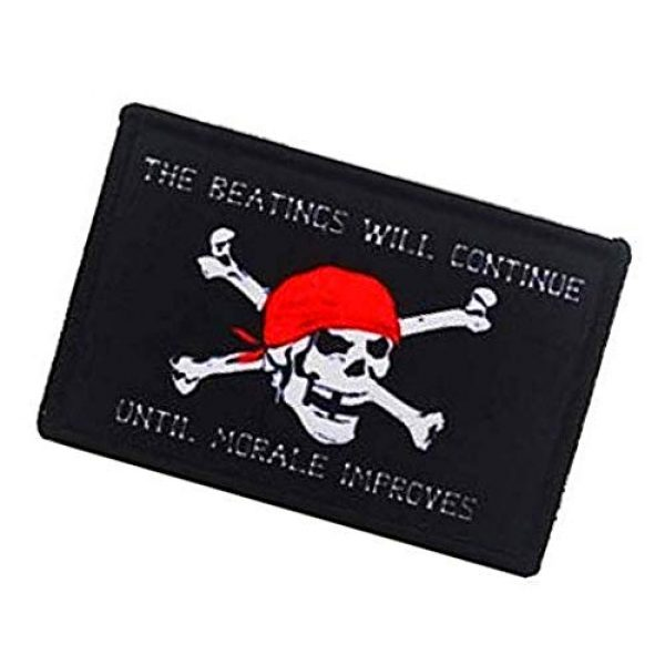 Fine Print Patch Airsoft Morale Patch 3 Jolly Roger Pirate Skull Military Hook Loop Tactics Morale Printed Patch