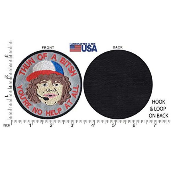Tactical Patch Works Airsoft Morale Patch 5 Dustin Son Thun Of A Bitsh Stranger Things Inspired Art Patch