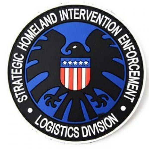 Tactical PVC Patch Airsoft Morale Patch 1 Marvel Comics Avenger Agents of The Shield Logo PVC Military Tactical Morale Patch Badges Emblem Applique Hook Patches for Clothes Backpack Accessories