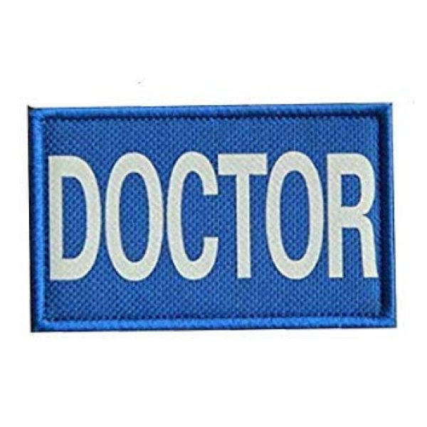 Embroidery Patch Airsoft Morale Patch 5 4 Pieces Doctor Infrared Reflective Military Hook Loop Tactics Morale Patch (color5)