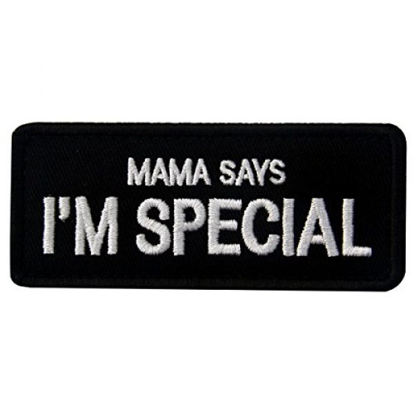 EmbTao Airsoft Morale Patch 1 Mama Says I'm Special Tactical Morale Emblem Embroidered Fastener Hook & Loop Patch
