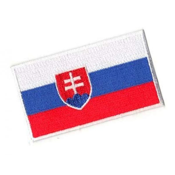 Embroidery Patch Airsoft Morale Patch 2 Slovakia Flag Patch Military Hook Loop Tactics Morale Embroidered Patch