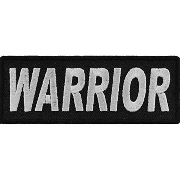 Ivamis Trading Airsoft Morale Patch 1 Warrior Patch - 4x1.5 inch. Embroidered Iron on Patch