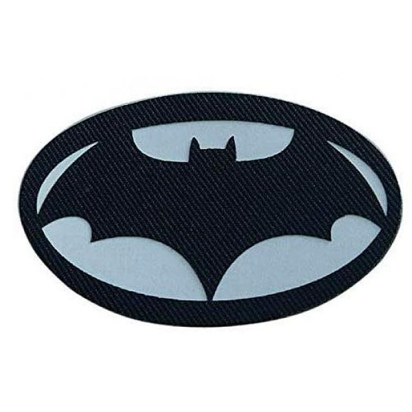 Embroidery Patch Airsoft Morale Patch 1 Batman Superhero Military Hook Loop Tactics Morale Luminous Reflective Patch (color1)