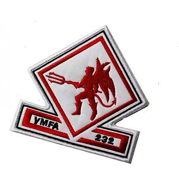 Embroidery Patch Airsoft Morale Patch 3 US VMFA-232 Red Devils Attack Squadron Military Hook Loop Tactics Morale Embroidered Patch