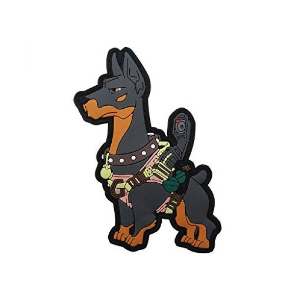 Tactical PVC Patch Airsoft Morale Patch 1 Fighting Dog PVC Military Tactical Morale Patch Badges Emblem Applique Hook Patches for Clothes Backpack Accessories
