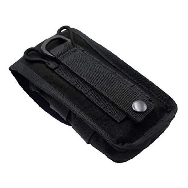 Riyiter Tactical Pouch 6 Riyiter Universal Multifunction Cell Phone Holster Pouch Tactical Smartphone Pouches EDC Case Molle Gadget Bag Case with Belt Loop Hook Cover Case Double-Layer Nylon Coin Purse Black