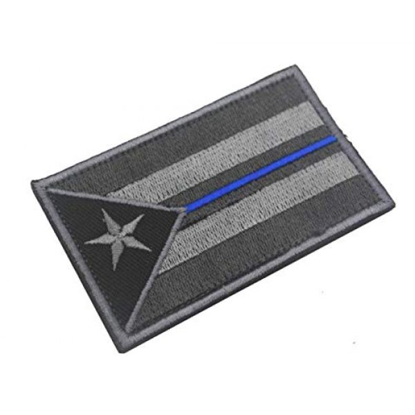 Tactical Embroidery Patch Airsoft Morale Patch 1 Puerto Rico Flag Embroidery Patch Military Tactical Morale Patch Badges Emblem Applique Hook Patches for Clothes Backpack Accessories