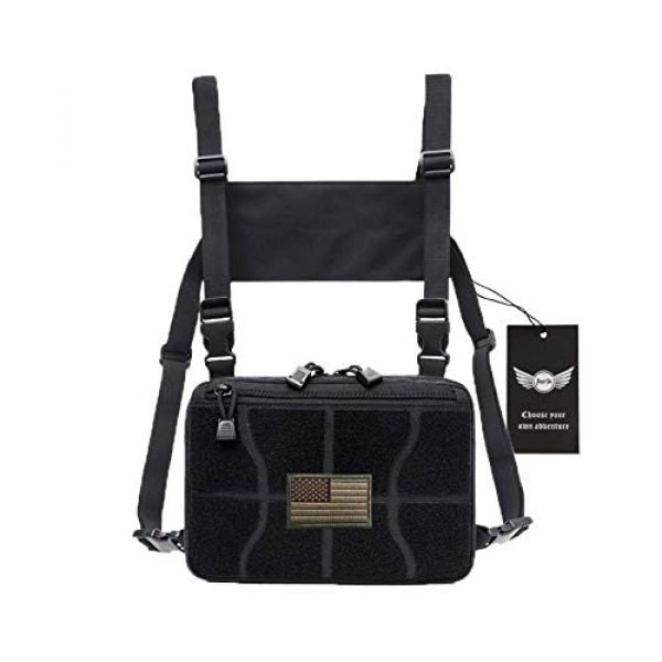 AegisTac Tactical Pouch 1 AegisTac Tactical Chest Rig Bag Recon Kit Bags Combat Chest Pack Radio Chest Harness Molle Vest Bags Front Pouch Tool Pouch EDC Carry Pouch