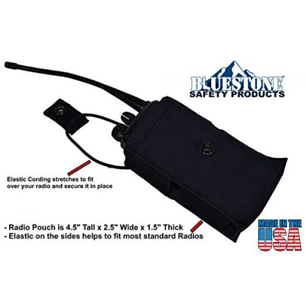 BlueStone Safety Tactical Pouch 2 Tactical Molle Radio Pocket   Radio Molle Pouch   Molle Radio Attachment for Load Bearing Vest Carrier