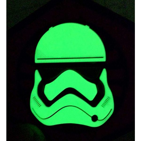 """Empire Tactical USA Airsoft Morale Patch 3 2.5"""" x 2.5"""" 3d PVC First Order Gitd Glow in the Dark Stormtrooper Helmet morale hook/loop Patch"""