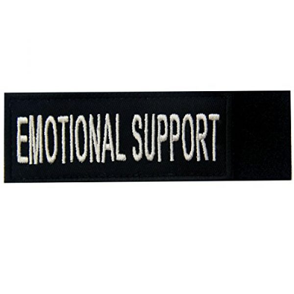 EmbTao Airsoft Morale Patch 5 Emotional Support Service Animal Vests/Harnesses Emblem Embroidered Fastener Hook & Loop Patch, 4 X 1.5 Inch