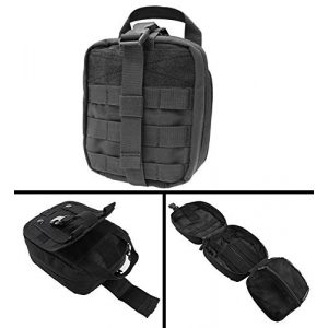 Ultimate Arms Gear Tactical Pouch 1 Ultimate Arms Gear MOLLE Rip-Away EMT Medical First Aid Pouch with Buckle Strap and Velcro Attachment, Black