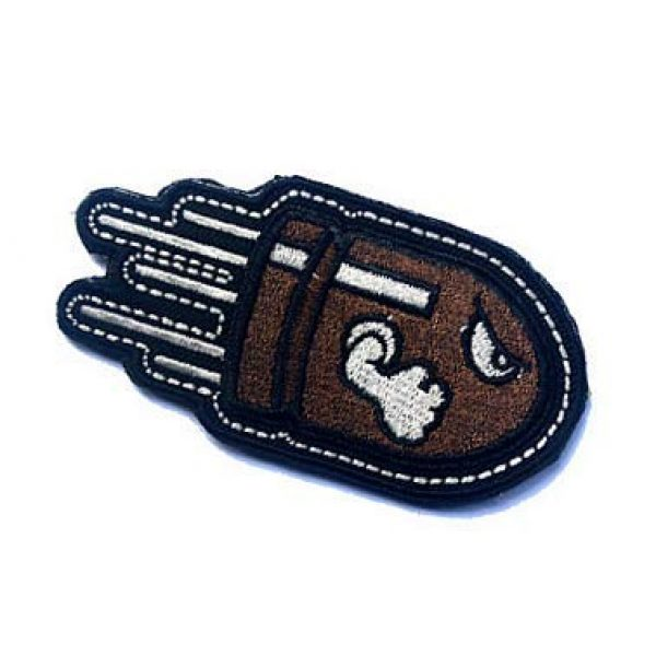 Embroidery Patch Airsoft Morale Patch 3 Angry Flying Bullet Military Hook Loop Tactics Morale Embroidered Patch