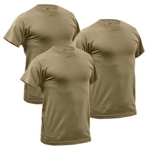 Rothco Tactical Shirt 1 3-Pack Quick Dry Moisture Wicking T-Shirt, AR 670-1 Coyote Brown