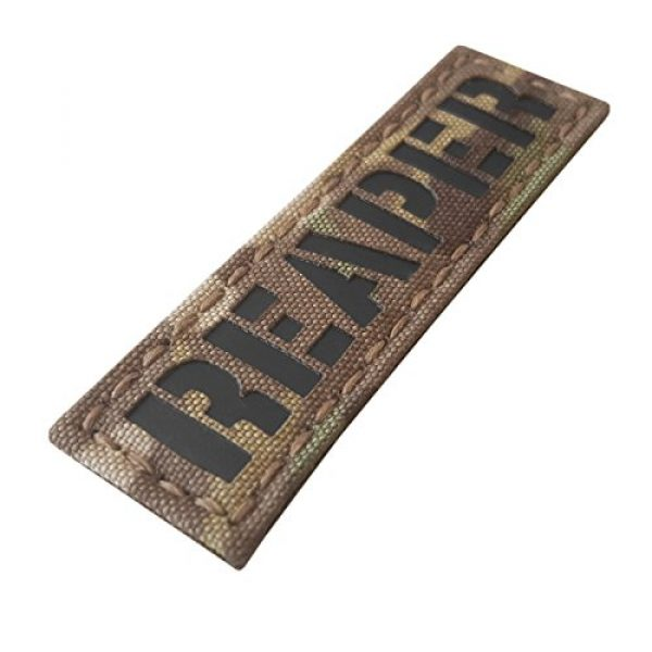 Tactical Freaky Airsoft Morale Patch 1 Reaper 1x3.5 Multicam Infrared Name Tape Tab IFF Morale Fastener Patch