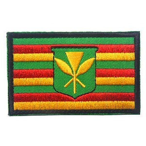 Embroidery Patch Airsoft Morale Patch 1 Kanaka Maoli Flag Hawaii Historical Native Hawaiian Military Hook Loop Tactics Morale Embroidered Patch