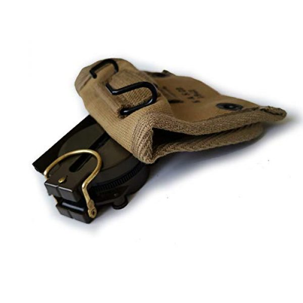 ANQIAO Tactical Pouch 3 ANQIAO Reproduction WW2 US Compass Pouch Bag with Modern Compass