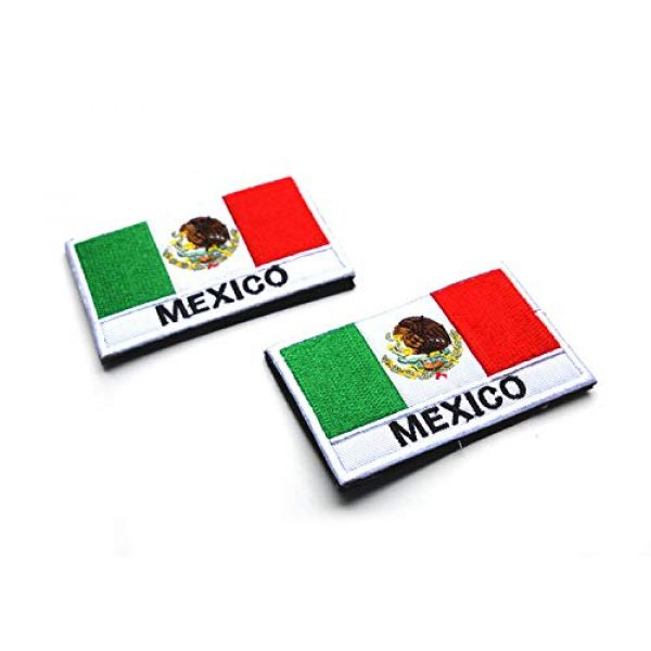 Zhikang68 Airsoft Morale Patch 4 Mexico International Flag Mexican Country Emblem Embroidered Military Tactical Morale Badges Sew On Shoulder Applique for Motorcycle Jackets, Clothes, Backpacks (Style 1)