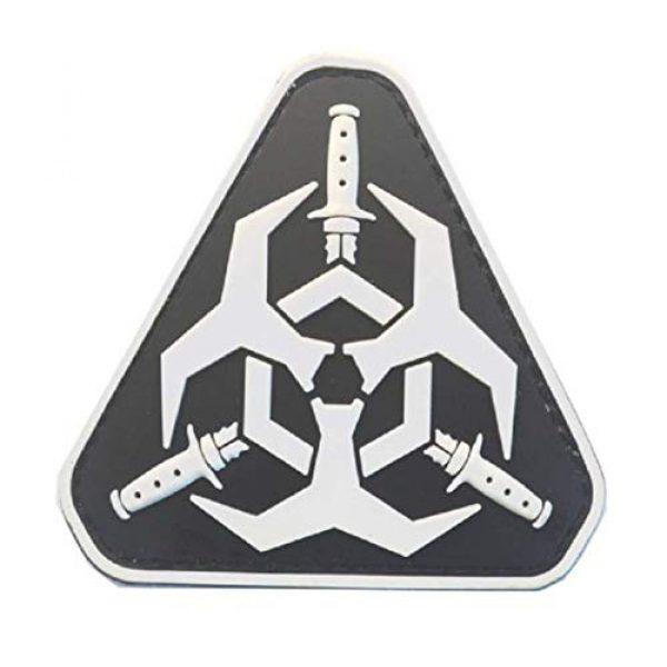 Tactical PVC Patch Airsoft Morale Patch 1 Resident Evil Zombie Outbreak Bio Hazard PVC Military Tactical Morale Patch Badges Emblem Applique Hook Patches for Clothes Backpack Accessories