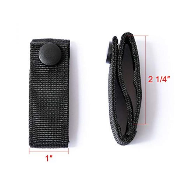"""Aolamegs Tactical Pouch 3 Aolamegs (2 Pack Nylon Handcuff Strap Holder,Handcuff Case,Single Snap,Slide-On fits 2 1/4"""" in Belts,Black,"""