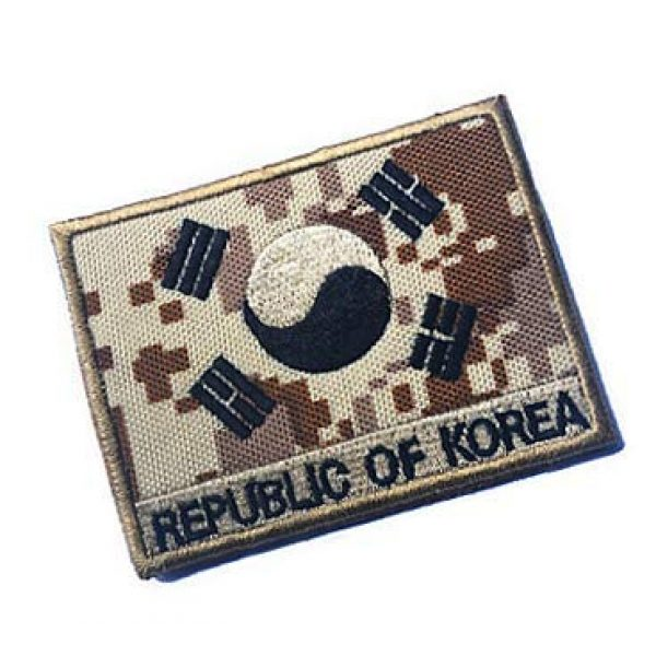 Embroidery Patch Airsoft Morale Patch 2 South Korean Flag Military Hook Loop Tactics Morale Embroidered Patch (color4)
