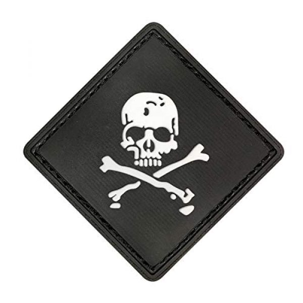 Morton Home Airsoft Morale Patch 1 Morton Home Set I Airsoft Paintball Tactical Military Rubber Badges PVC Rubber 3D Morale Patch (Black Skull Cross)