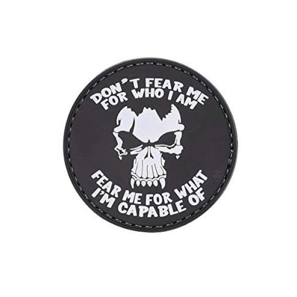 """5ive Star Gear Airsoft Morale Patch 1 5ive Star Gear """"Don't Fear Me Round Morale Patch, One Size, Multi-Colored"""