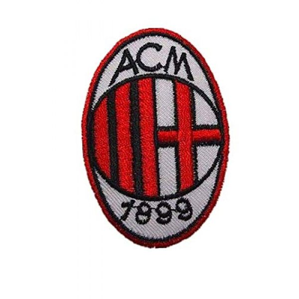 Embroidery Patch Airsoft Morale Patch 1 Italy AC Milan Soccer Football Team Military Hook Loop Tactics Morale Embroidered Patch