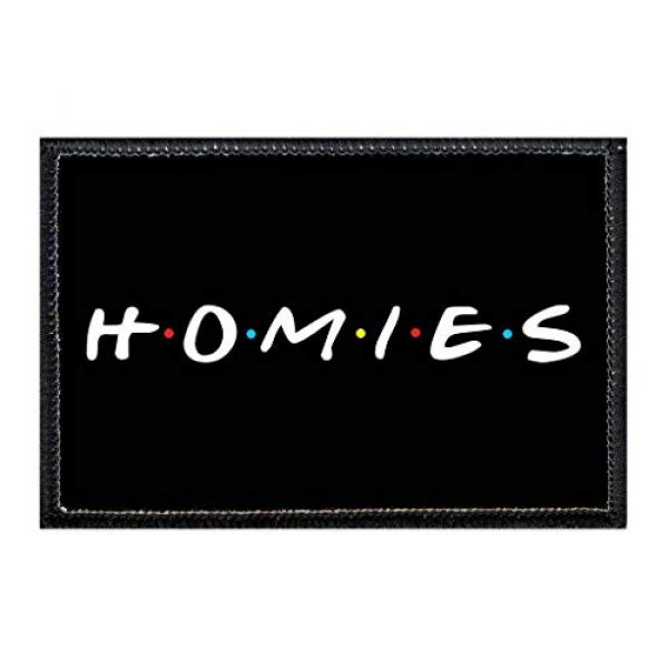 P PULLPATCH Airsoft Morale Patch 1 Homies Morale Patch   Hook and Loop Attach for Hats, Jeans, Vest, Coat   2x3 in   by Pull Patch