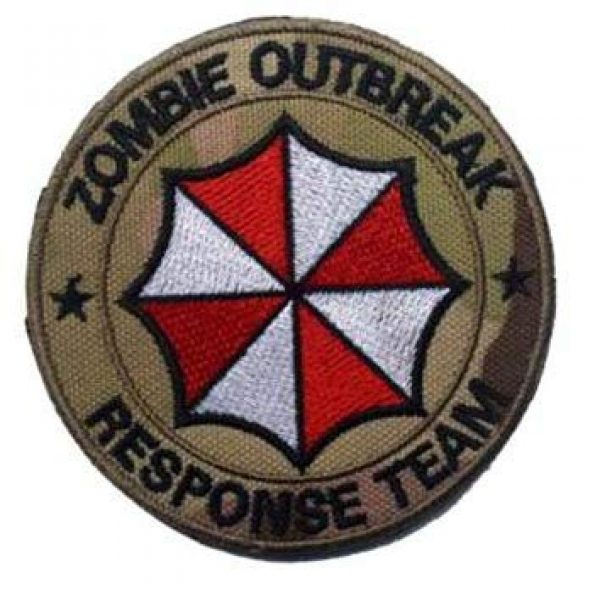 Embroidered Patch Airsoft Morale Patch 1 Resident Evil Umbrella Logo Zombie Outbreak 3D Tactical Patch Military Embroidered Morale Tags Badge Embroidered Patch DIY Applique Shoulder Patch Embroidery Gift Patch