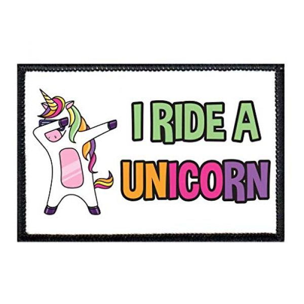 P PULLPATCH Airsoft Morale Patch 1 I Ride A Unicorn Morale Patch   Hook and Loop Attach for Hats, Jeans, Vest, Coat   2x3 in   by Pull Patch