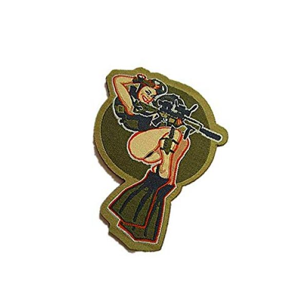 Embroidery Patch Airsoft Morale Patch 3 Dive Girl Pinup Marine Military Hook Loop Tactics Morale Embroidered Patch