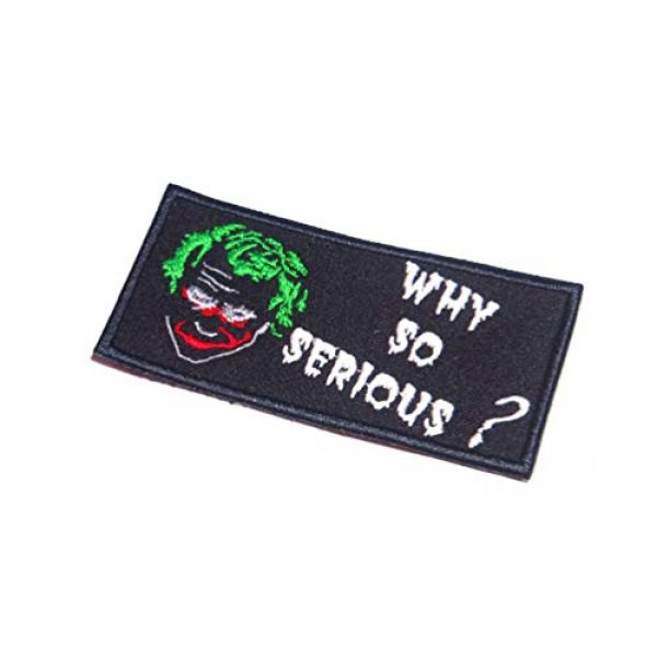 AstroG Airsoft Morale Patch 1 AstroG@ BP18 Joker Quotes Why So Serious Biker Motorcycle Embroidered Morale Patch 4X2 Inch Hook Backing