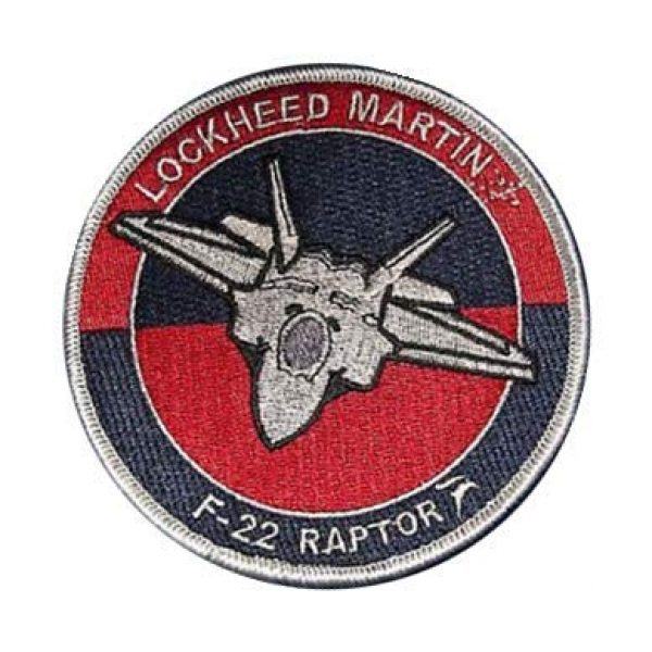 Embroidery Patch Airsoft Morale Patch 1 Lockheed F-22 Raptor Stealth Fighter Military Hook Loop Tactics Morale Embroidered Patch