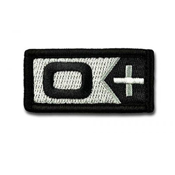 BASTION Airsoft Morale Patch 1 BASTION Morale Patches (Blood Type O Pos, BNW) | 3D Embroidered Patches with Hook & Loop Fastener Backing | Well-Made Clean Stitching | Military Patches for Tactical Bag, Hats & Vest