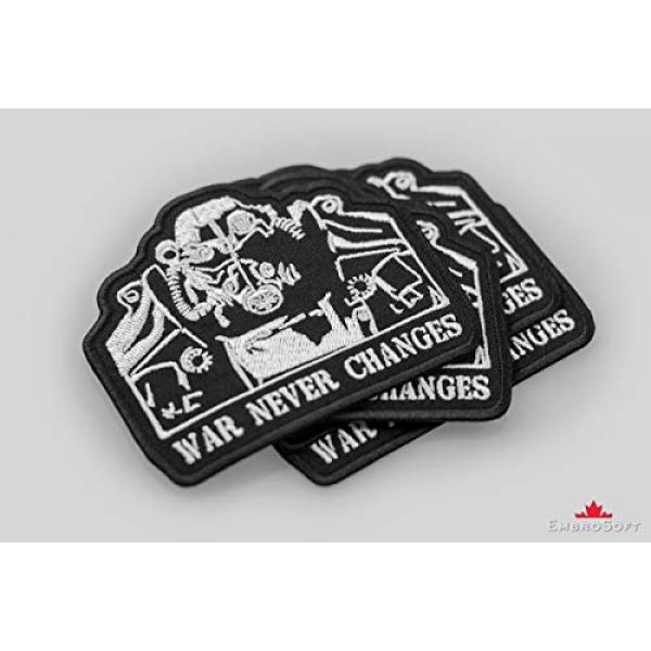 """Embrosoft Airsoft Morale Patch 4 Fallout T-45d Power Armor Silhouette Embroidered Patch Iron On (3.5"""" x 3"""")"""