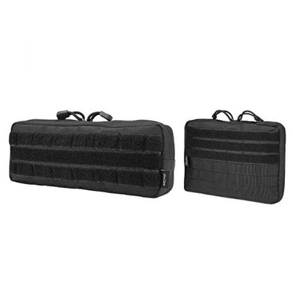 ProCase Tactical Pouch 1 ProCase Tactical Admin Pouch (Longer Size) Bundle with Tactical MOLLE Pouch (Higher Size)