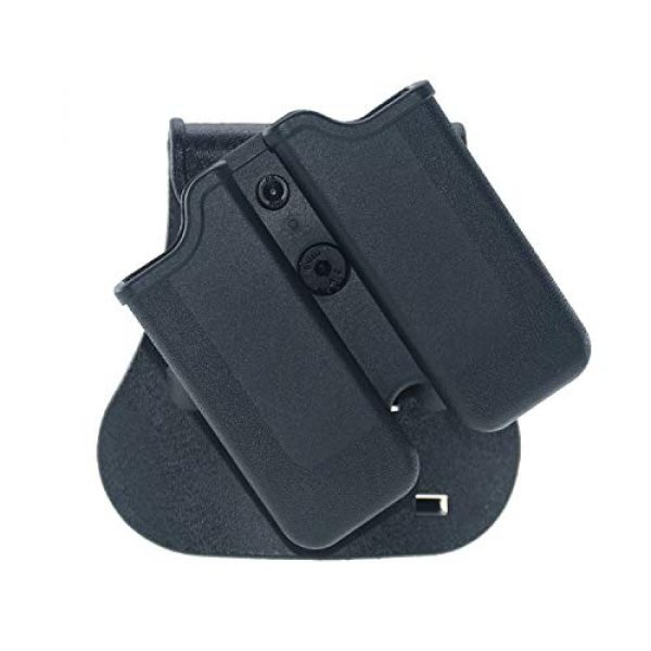 Backyard Blasters Tactical Pouch 3 Backyard Blasters Double Magazine Holster, Magazine Pouch fits for SIGP226 and P229, 9mm .40 Double Stack Mag with Adjustable Paddle
