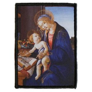 WAPPEN-YA DONGRI Airsoft Morale Patch 1 Sandro Botticelli Morale Patch Hook and Loop A0521 (Madonna with The Child)