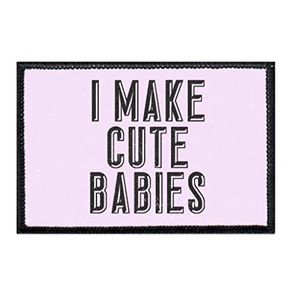 P PULLPATCH Airsoft Morale Patch 1 I Make Cute Babies Morale Patch   Hook and Loop Attach for Hats, Jeans, Vest, Coat   2x3 in   by Pull Patch