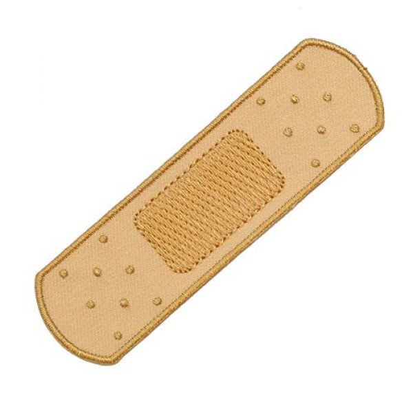 Graphic Dust Airsoft Morale Patch 1 Graphic Dust Fake Medical Plaster Strip Bandage Plaster Embroidered Iron On Patch Adhesive Red Band-Aid Cross Medic Bandaid
