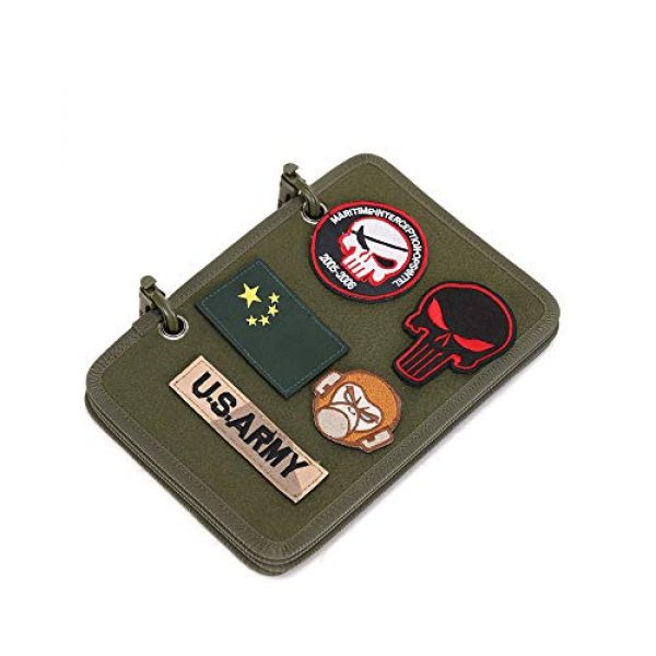 JINGZ Airsoft Morale Patch 1 Army Fan Flip-Page Patch Book Tactical Patches Display Board Military Patch Holder Morale Badge Organizer Booklet (Green)