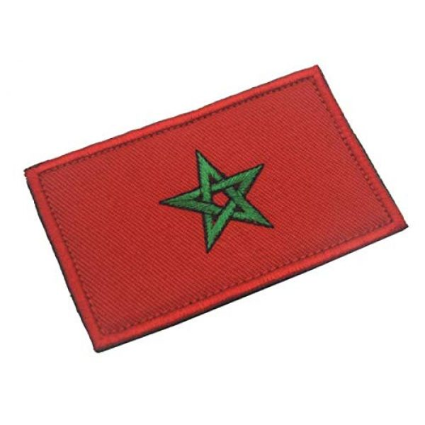 Tactical Embroidery Patch Airsoft Morale Patch 1 Morocco Flag Embroidery Patch Military Tactical Morale Patch Badges Emblem Applique Hook Patches for Clothes Backpack Accessories