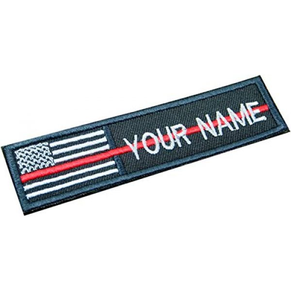 DREAM ARMY Airsoft Morale Patch 1 DREAM ARMY Custom Name Text Thin RED LINE Firefighter American Flag Embroidered 4x1 inch Patch Hook Backing